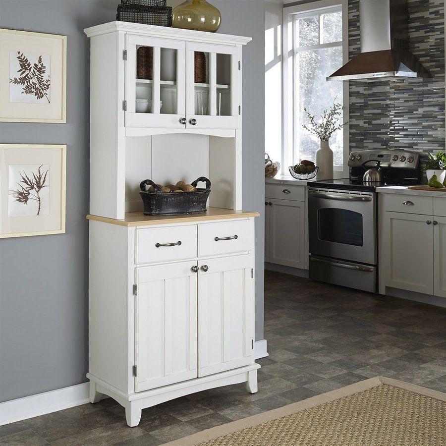 Home Styles Whitenatural Rectangular Kitchen Hutch 5001002112 Prepossessing White Kitchen Hutch Design Decoration