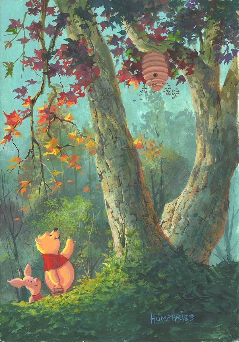 Winnie The Pooh Forest Background: Pin Em Art