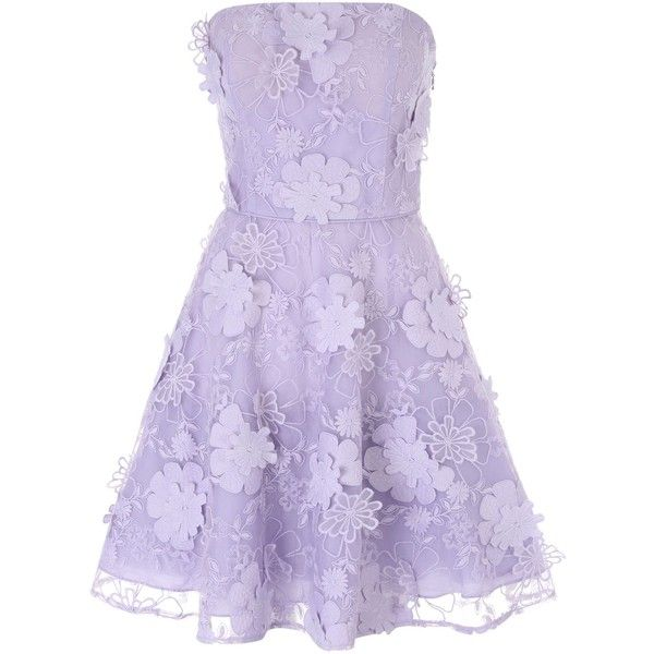 Jane Norman Lilac 3D Flower Prom Dress (€51) ❤ liked on Polyvore ...