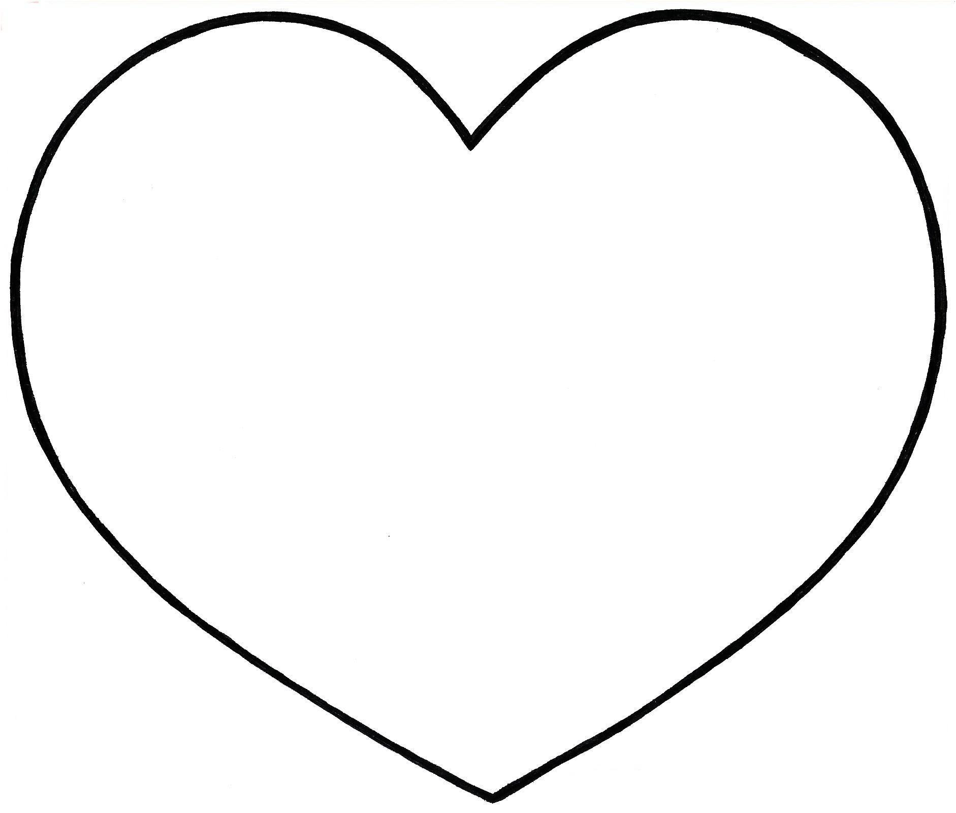 15 Adorable Modele De Coeur A Decouper Gallery Coloriage Coeur Dessin De Coeur Coeur A Colorier
