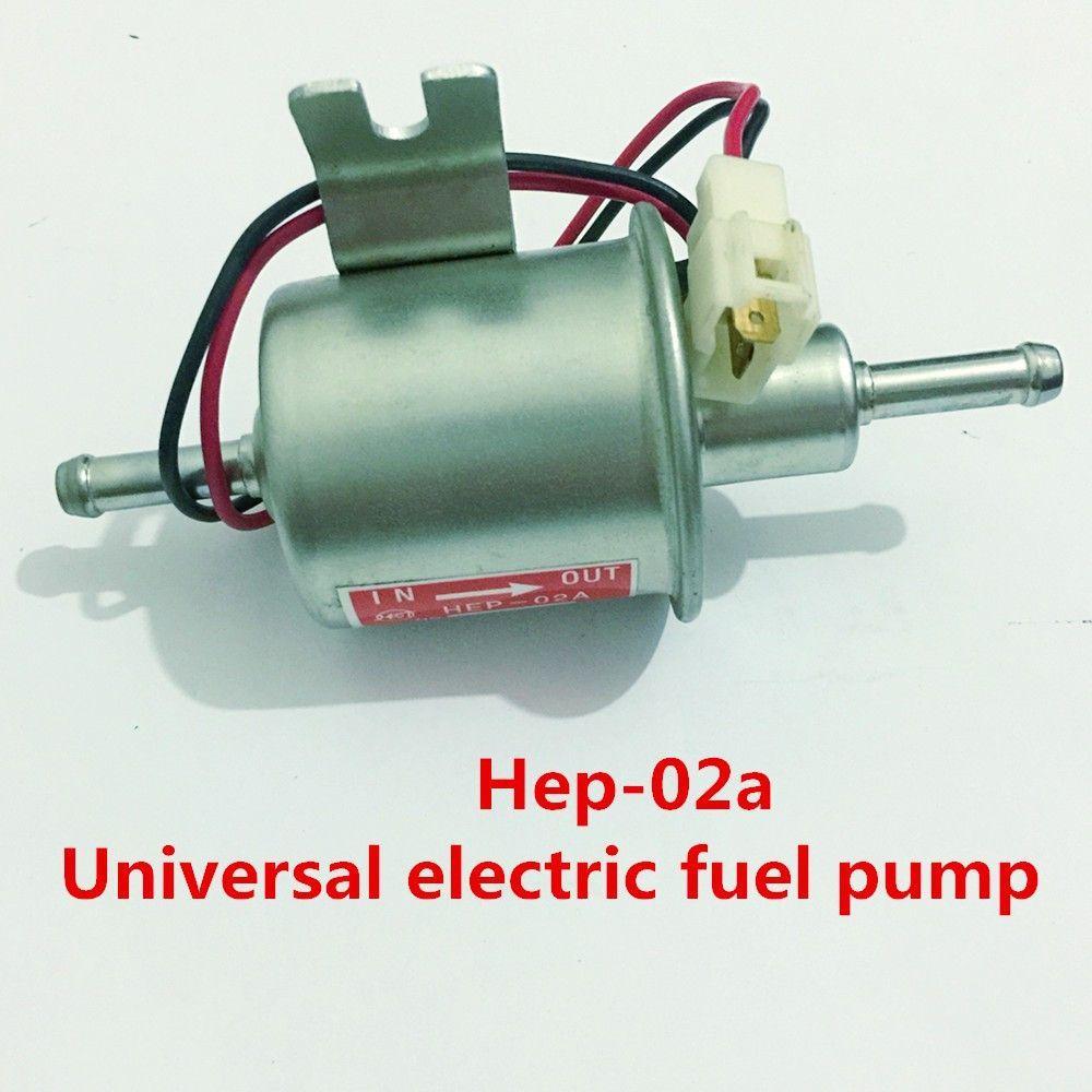 Universal Car Electric Fuel Pump Low Pressure Inline Petrol Gas Diesel HEP-02A