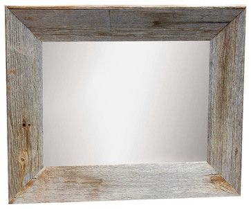 rustic mirror with beveled barn wood frame rustic mirrors mybarnwoodframes - My Barnwood Frames