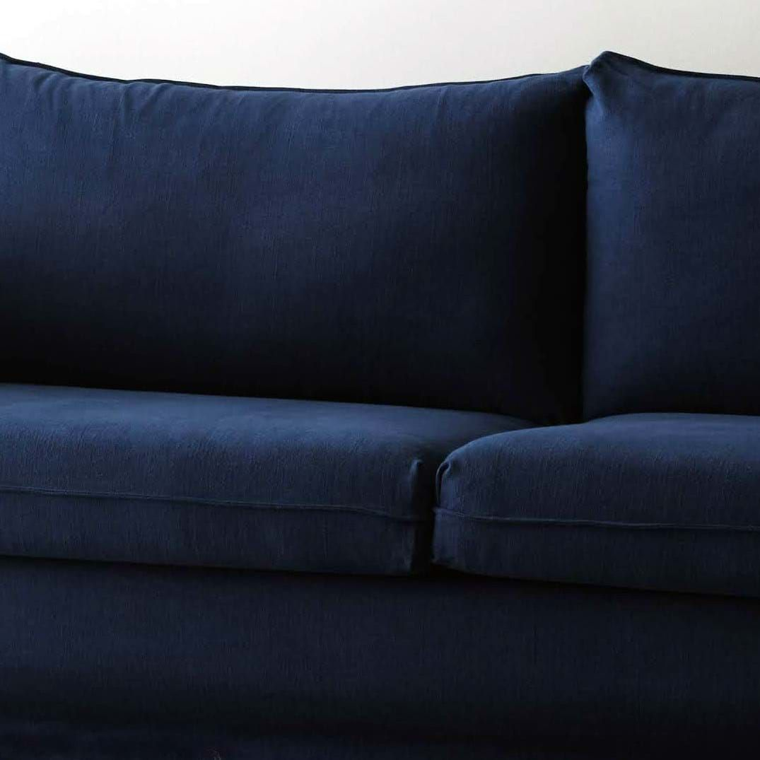 Ikea Kivik Corner Module Add On Unit Cover Navy Blue Linen Bemz In 2020 Daybed Covers Bedskirt Arm Chair Covers