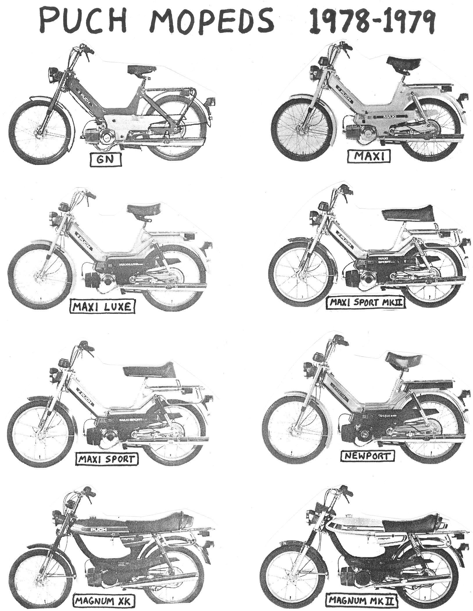 Puch Moped Taxonomy With Images