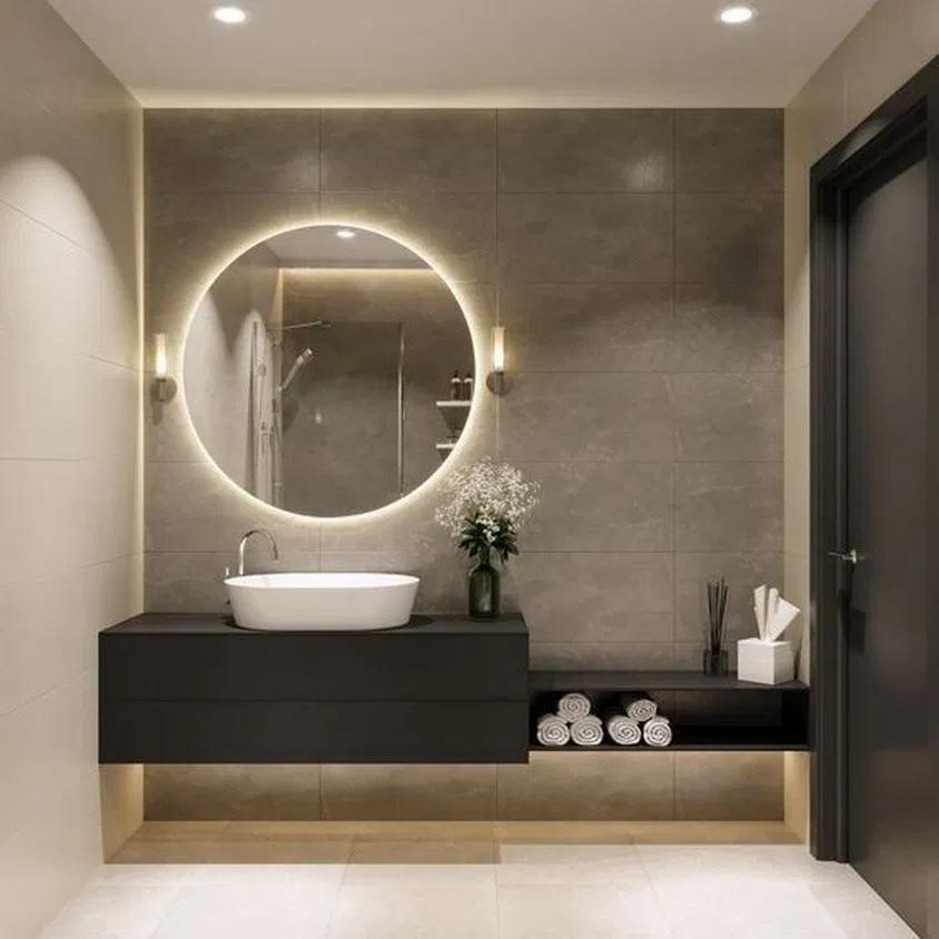 80 Minimalist Bathroom Design Ideas And Cool Bathroom Feryhan Com Bathroom Bathroomideas Bathroomd In 2020 Bathroom Decor Modern Bathroom Bathroom Interior Design