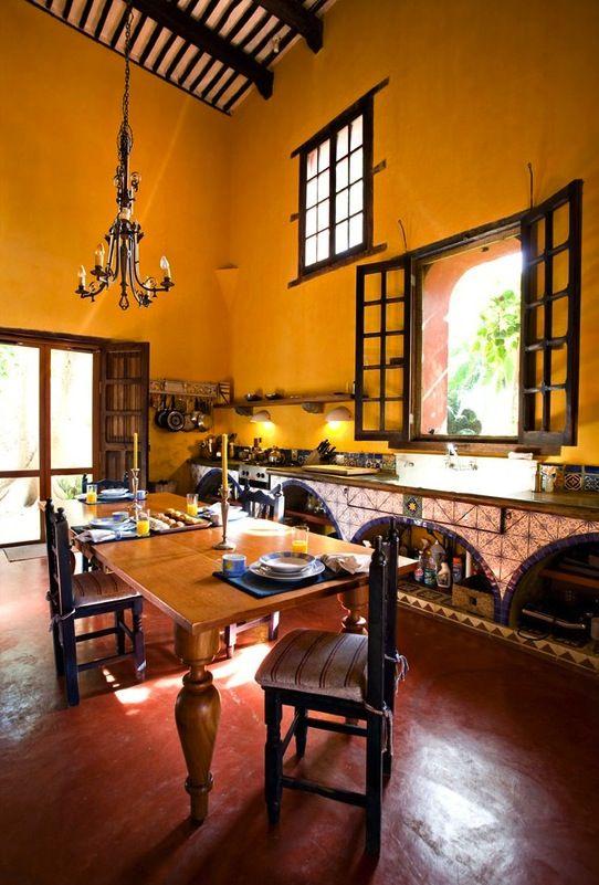 Espacios amplios house decor pinterest casa estilo for Decoracion colonial mexicana