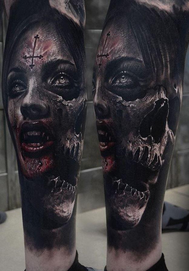Dark Horror Tattoo Tatuaże Pinterest Tattoos Cool Tattoos I