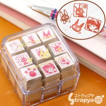 Studio Ghibli Kiki's Delivery Service Mini Rubber Stamp Set (x9 Stamps)【Stationery】【cat】