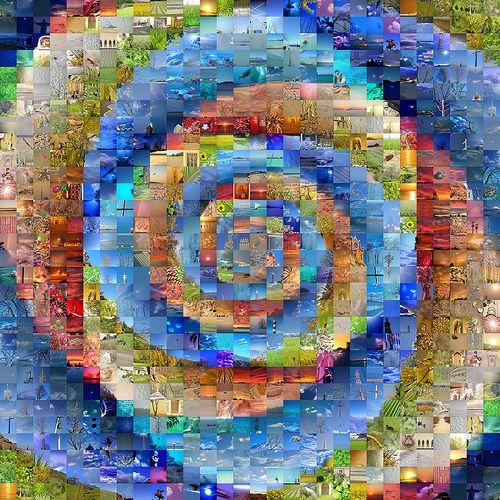 #Spiral #Mosaic (made from old photographs) by krazydad v/Flickr.