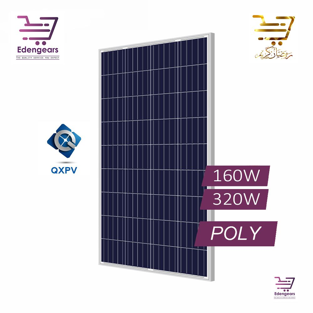 Buy Qxpv Solar Panels 160w And 320w At Best Price In Pakistan At Edengears Com Pk In 2020 Solar Panels Solar Type Test