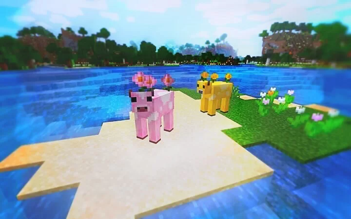 Flower Cows Moobloom And Moolip Minecraft Texture Pack Texture Packs Minecraft Minecraft Art