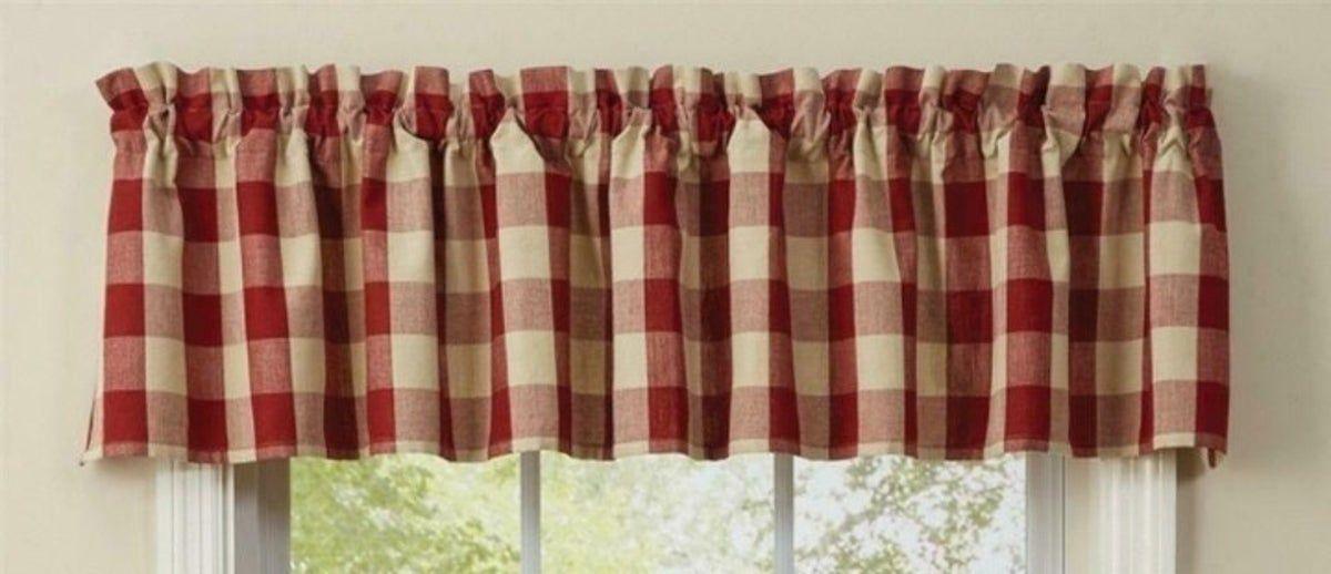Wicklow Garnet Red Buffalo Check Valance In 2020 Buffalo Plaid Decor Curtains Buffalo Plaid Curtains