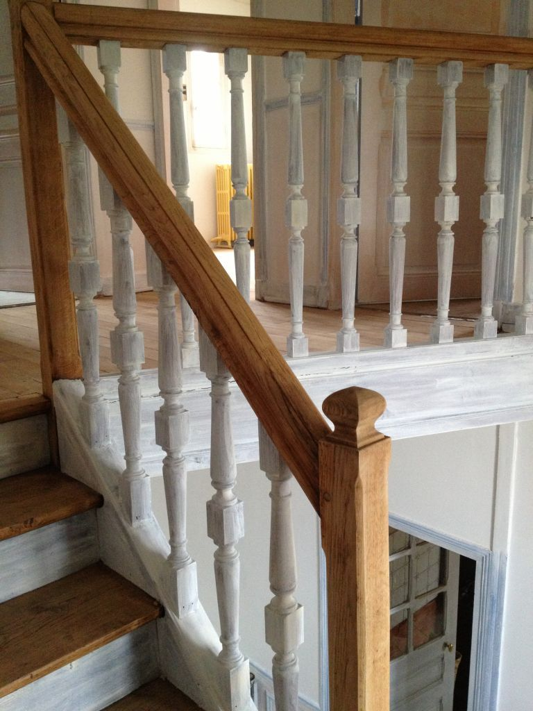 Escalier Val D Oise escalier poncé et imprimé - rénovation de notre maison en