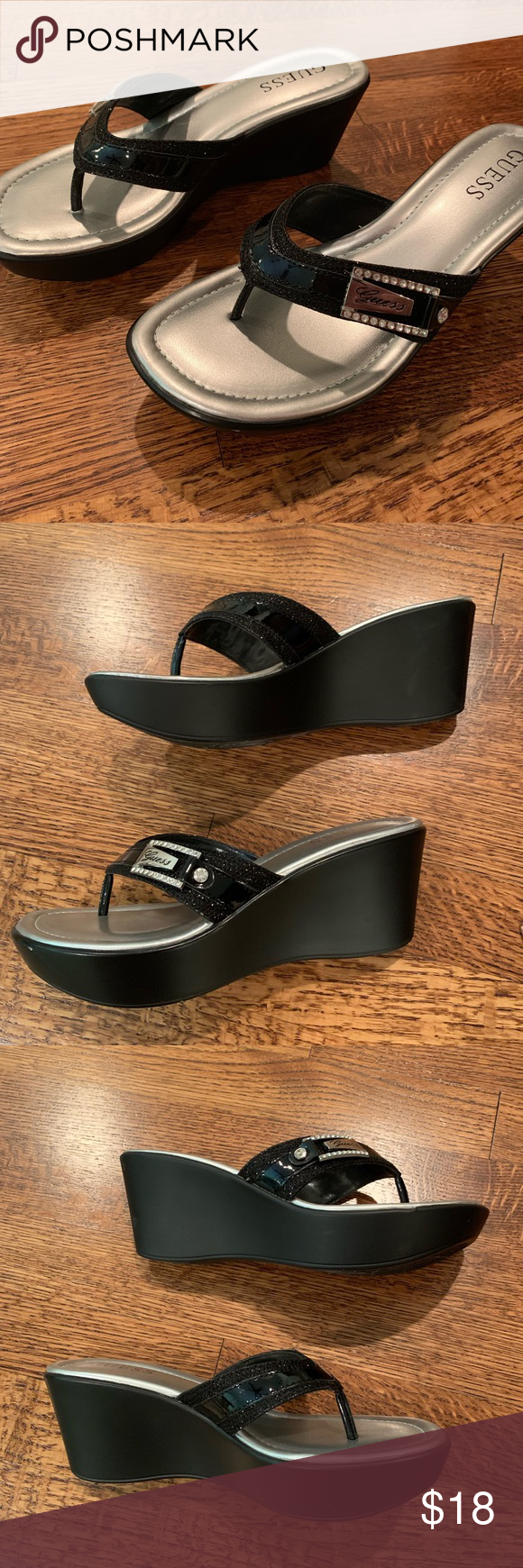 Guess Strappy Platform Wedge Sandals