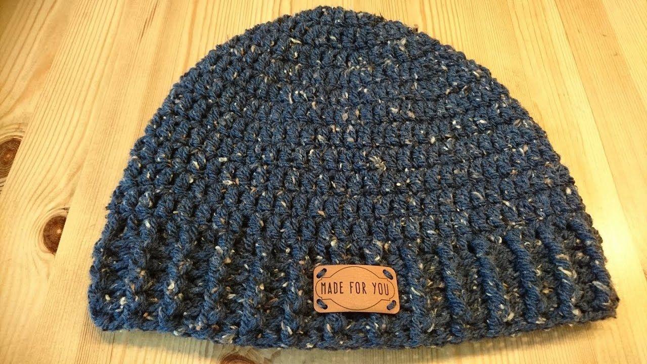 e0427ba8b1dcb Siem s XXL Mens Hat - Crochet - Tutorial - English - YouTube ...