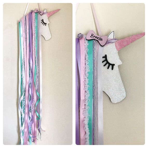 This Is Tilley A Shabby Chic Unicorn Hair Bow Holder Wall Decor is part of Unicorn bedroom -