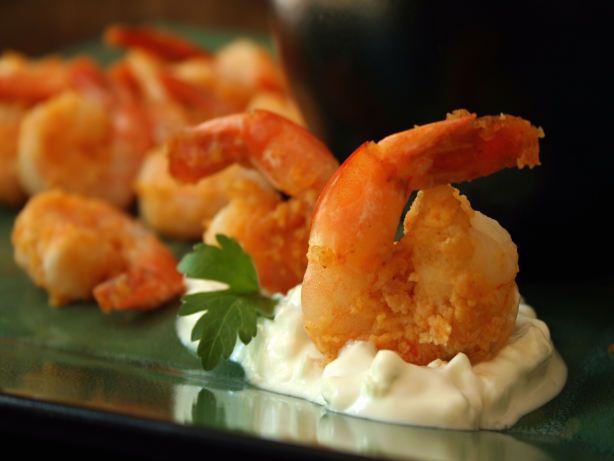 Fried Shrimp with Blue Cheese Sauce Recipe