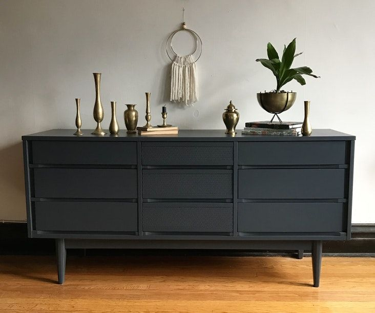 Best Grey Mid Century Modern Low Dresser By Kroehler Mid 400 x 300