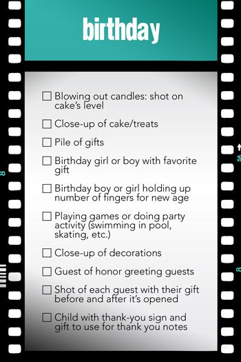 Photo Opportunities Checklist (Creating Keepsakes Blog) Creating - creating checklist