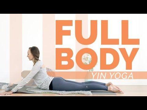 full body yin yoga 1 hour  grounding techniques  root
