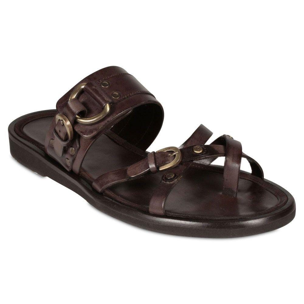 Cesare Paciotti Mens Designer Shoes Brown Sandals -4138