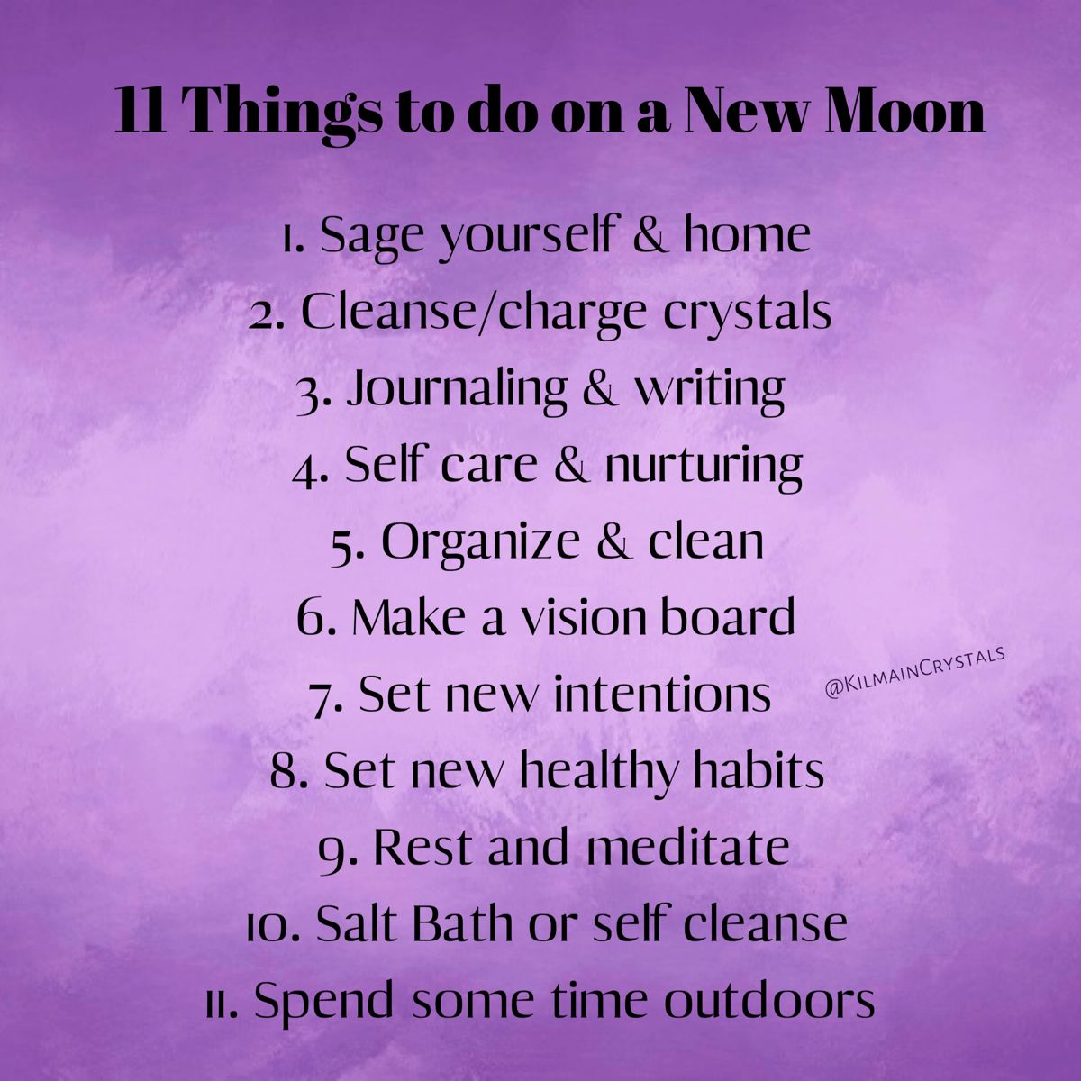 11 Things to do on a New Moon