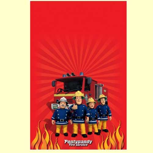 Fireman Sam Party Tablecover Fireman sam Pinterest – Fireman Sam Birthday Cards