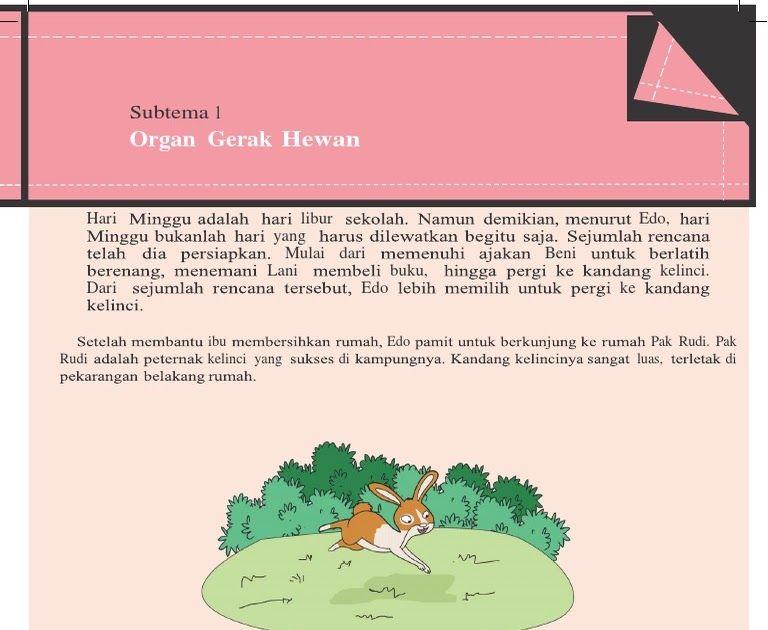 Contoh Teks Gambar Ilustrasi Kelinci Tema 1subtema 1 Contoh Soal Teks Cerita Fabel Kelas Vii Pelajaran Bahasa Contoh Descript Ilustrasi Gambar Kelinci