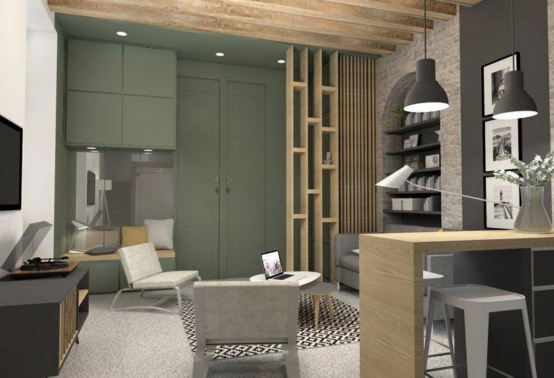 Aménagement Appartement Petite Surface petite- surface- aménagement - décoration - lyon - rénovation