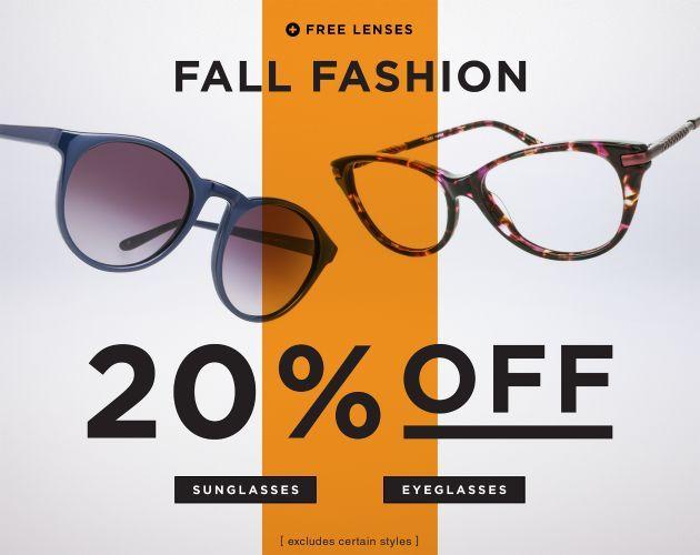 sunglasses sale  Discount Glasses Fall Fashion Banner #web #banner #fall #fashion ...