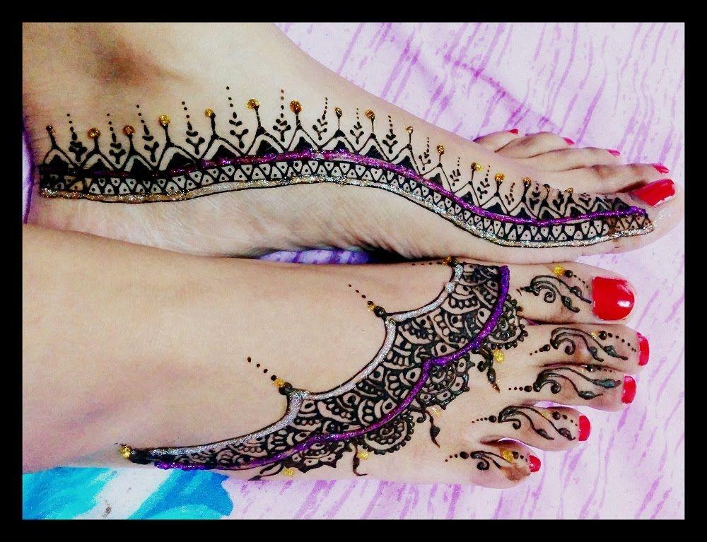 Mehndi For Diwali : Simple diwali mehendi henna design on feet part youtube