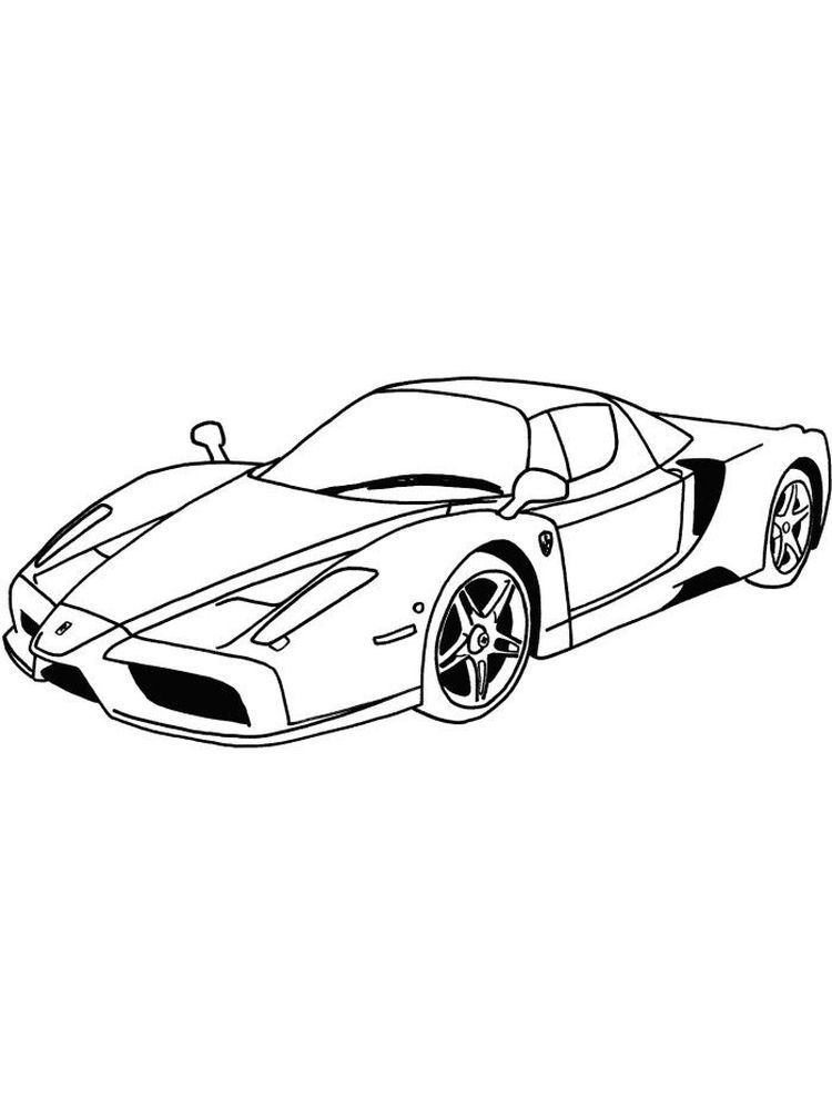 Ferrari Enzo Coloring Pages Ferrari Is One Of The Manufacturers Of Supercar Cars Originating From Italy And Was Founded Ferrari Enzo Ferrari Super Sport Cars