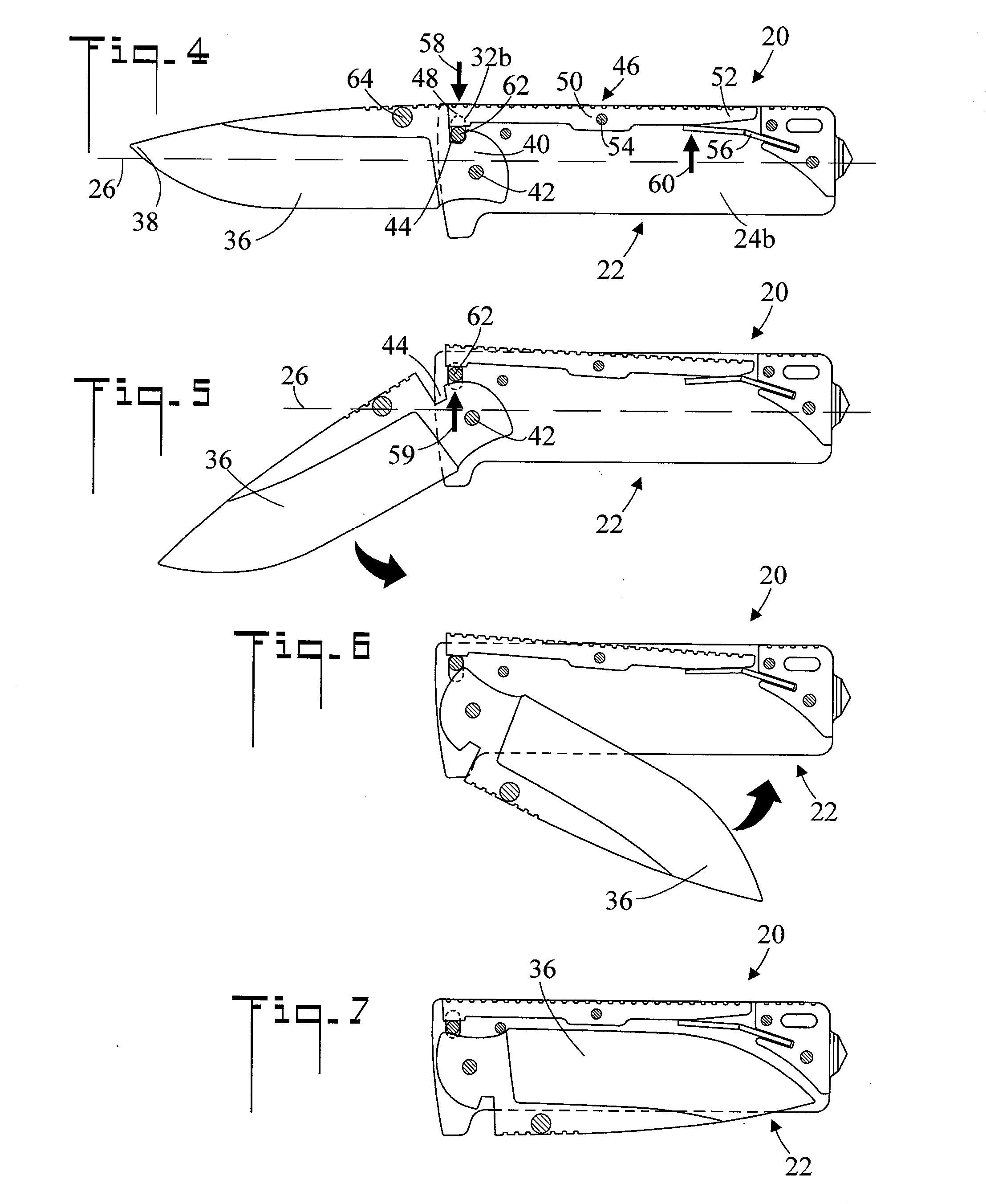 Parts Of A Pocket Knife Diagram 2002 Mitsubishi Lancer Car Radio Stereo Audio Wiring Brevet Us20130000129 Locking Mechanism For Folding
