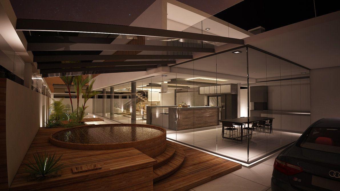 Hot Tub Deck Glass Facade At Spacious Modern Living Design Ideas Mesmerizing Luxury Modern Living Room Design 2018