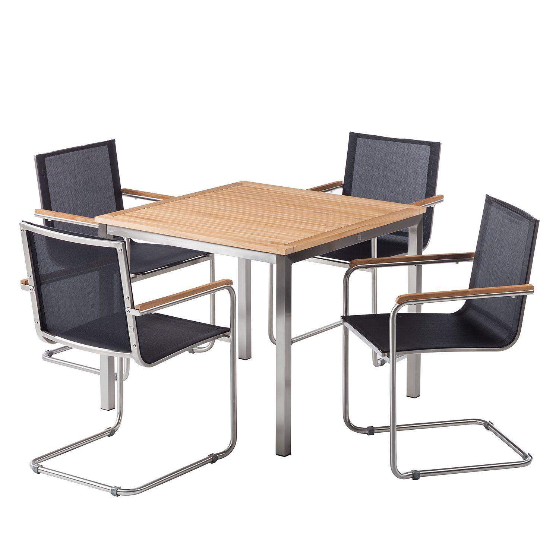 Essgruppe Teakline Exklusiv Xxiv In 2021 Gartentisch Mit Stuhlen Gartenmobel Sets Essgruppe