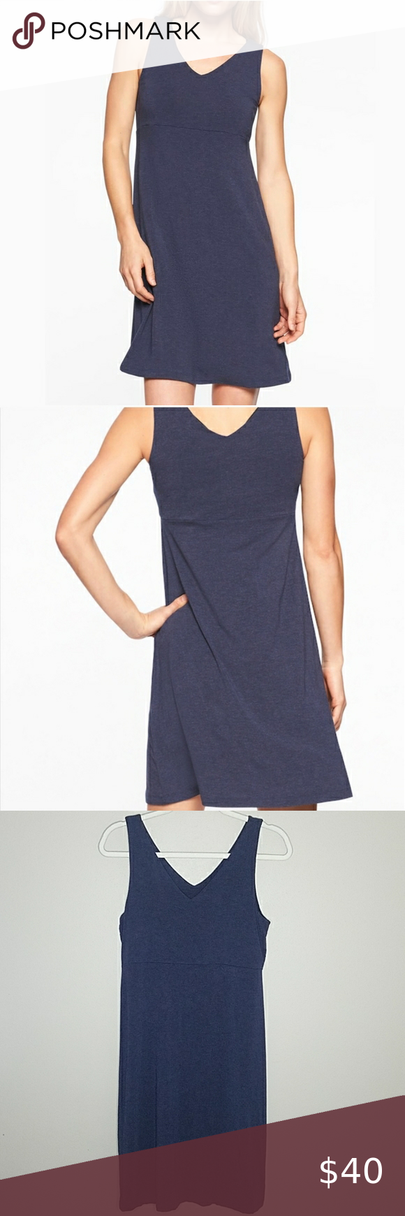 Athleta Santorini Dress, Size Medium Athleta Santorini Dress in Navy, Size Medium.  93% Modal, 7% Spandex.  Measures approximately 37