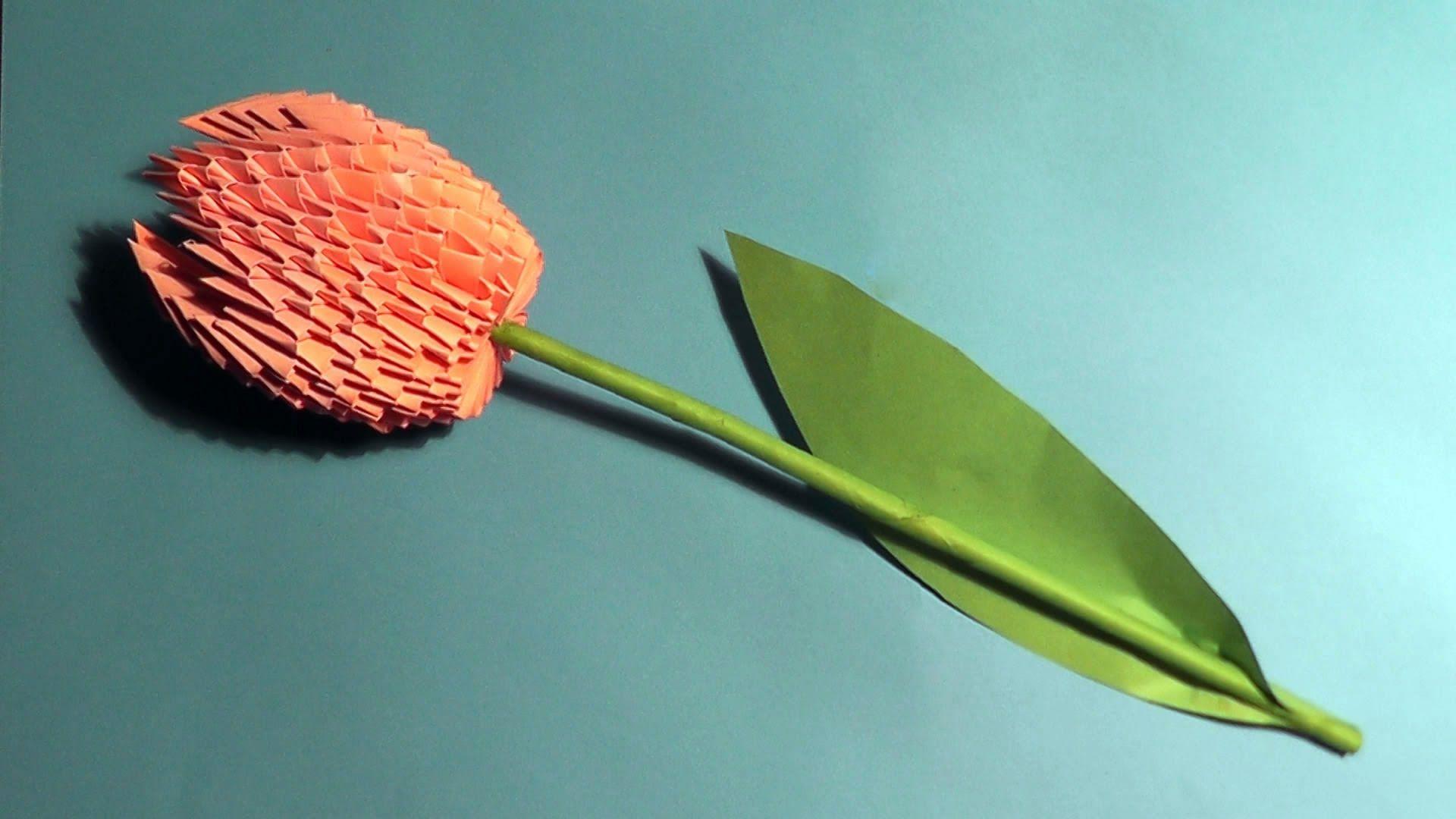 Цветы с модульного оригами