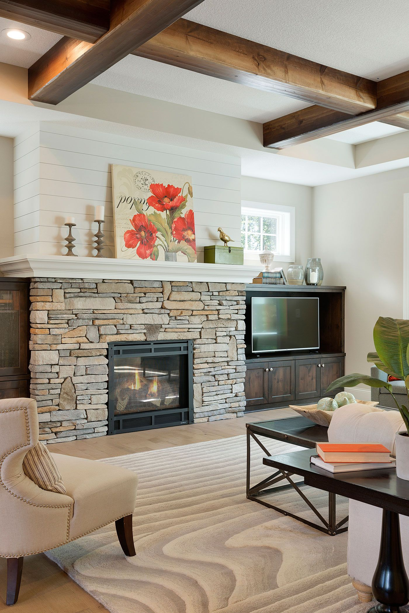 Modern Farmhouse Fireplace Decor With Tv