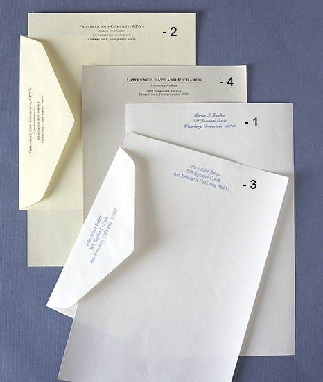 Personalized Papers Executive Stationery: Extra Printed Executive Envelopes