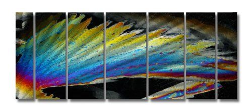 Abstract by Ash Carl Metal Wall Art in Black Multi  235 x 60 ** Click on the image for additional details.