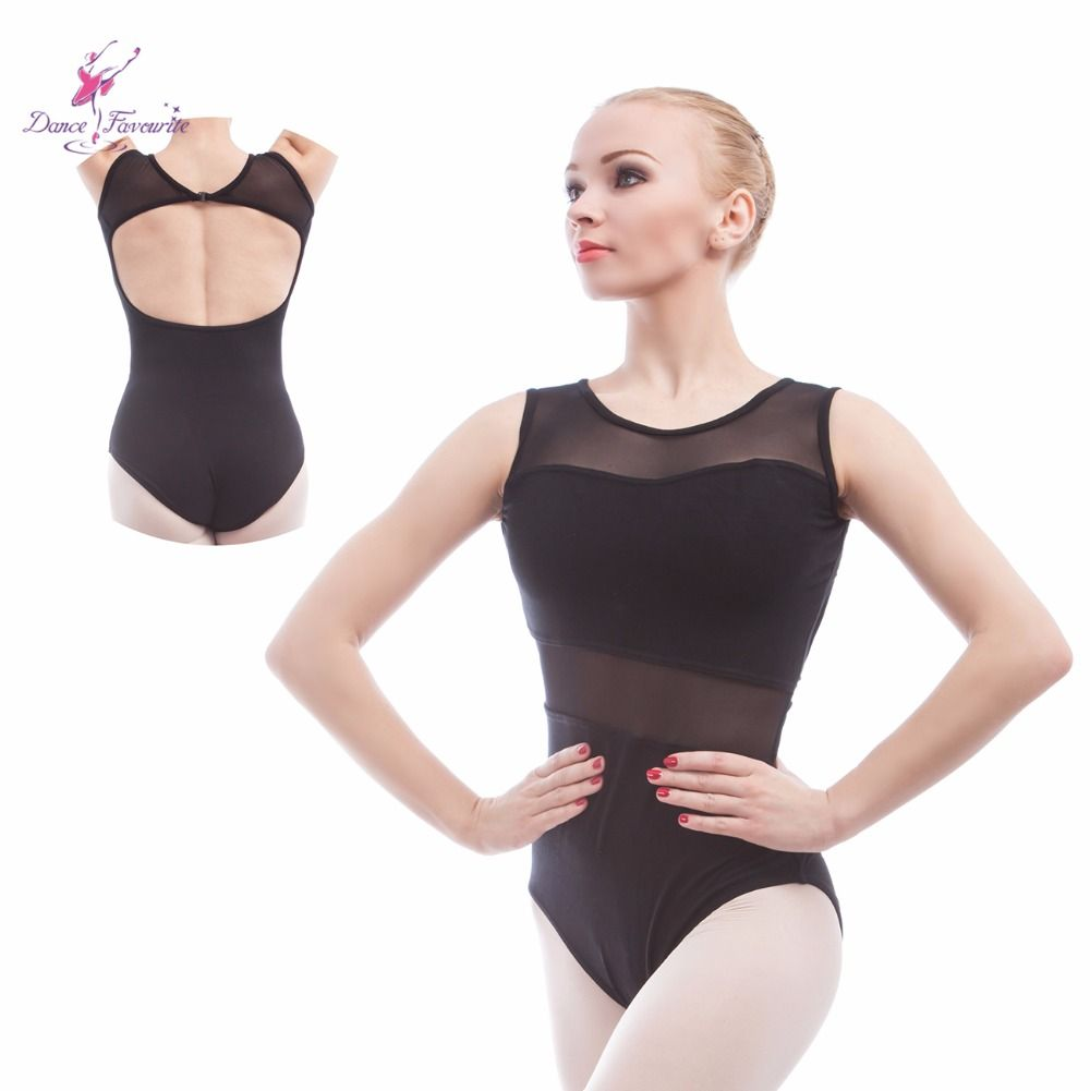 Find More Ballet Information about new Ballet Leotards For Women tank sleeve  cotton with mesh Ballet bdec584dc