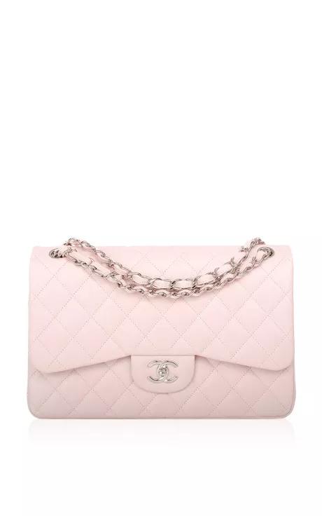 8a205da572c1 Chanel Baby Pink Quilted Caviar Jumbo Classic Bag by Madison Avenue Couture  for Preorder on Moda Operandi
