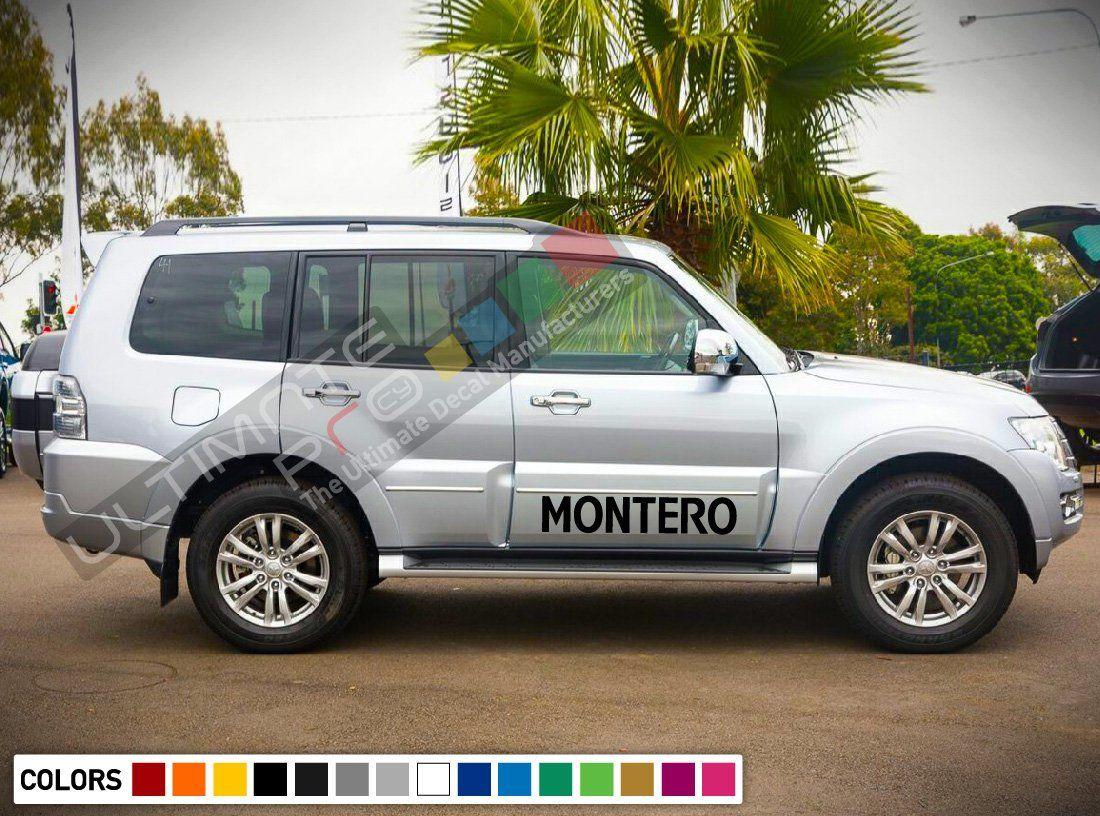 Sport Sticker Decal Side Door Stripes For Mitsubishi Montero