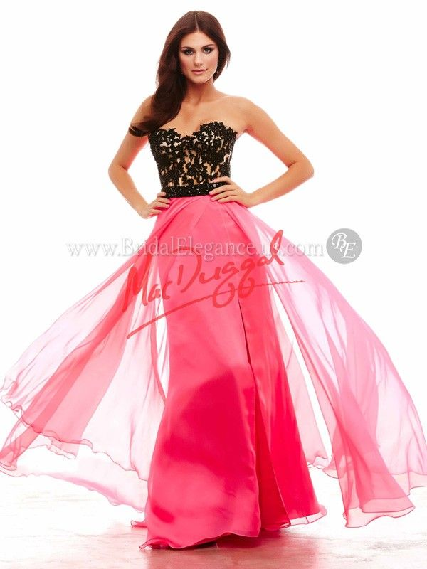 Mac Duggal #65149A | Lace and Chiffon Gown | Bridal Elegance ...
