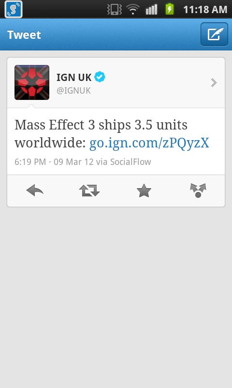 Mass effect 3 parece que vendió pocas unidades.