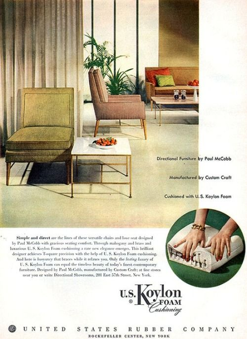 Directional Furniture By Paul McCobb, 1954.