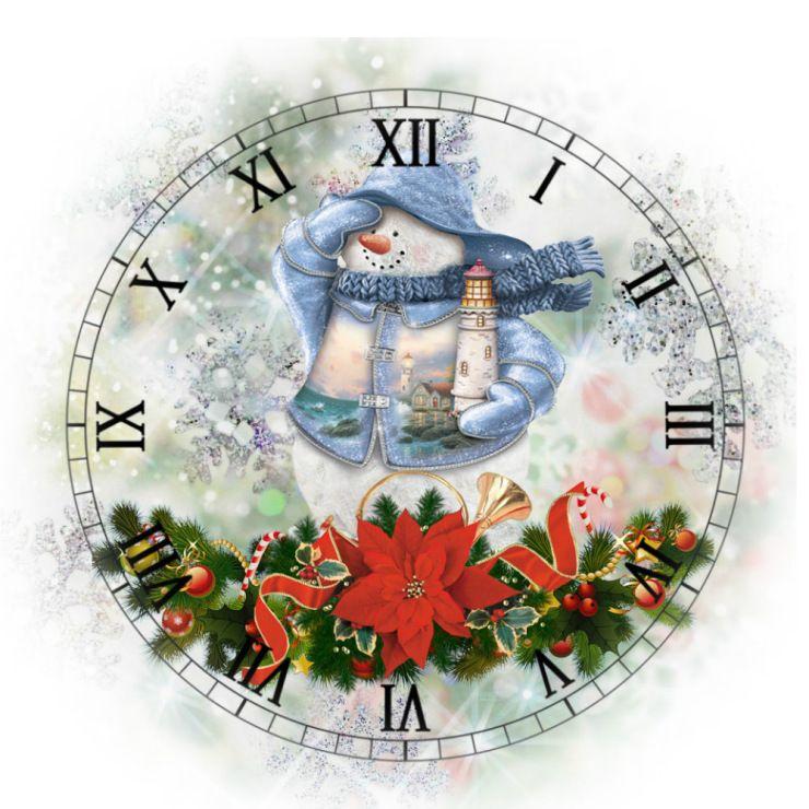 рождественские картинки на часы печать