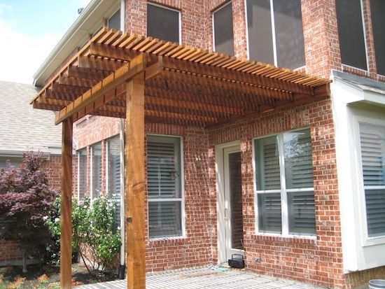 how to build a wooden window awning