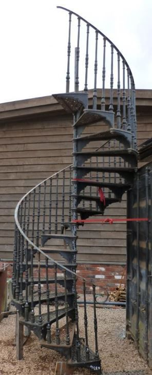 Spiral Staircase For Sale Cast Iron Reclaimed Spiral Stair Case   Outdoor Spiral Staircase For Sale   Patio   Used   Faux Wood Exterior   Design   Exterior