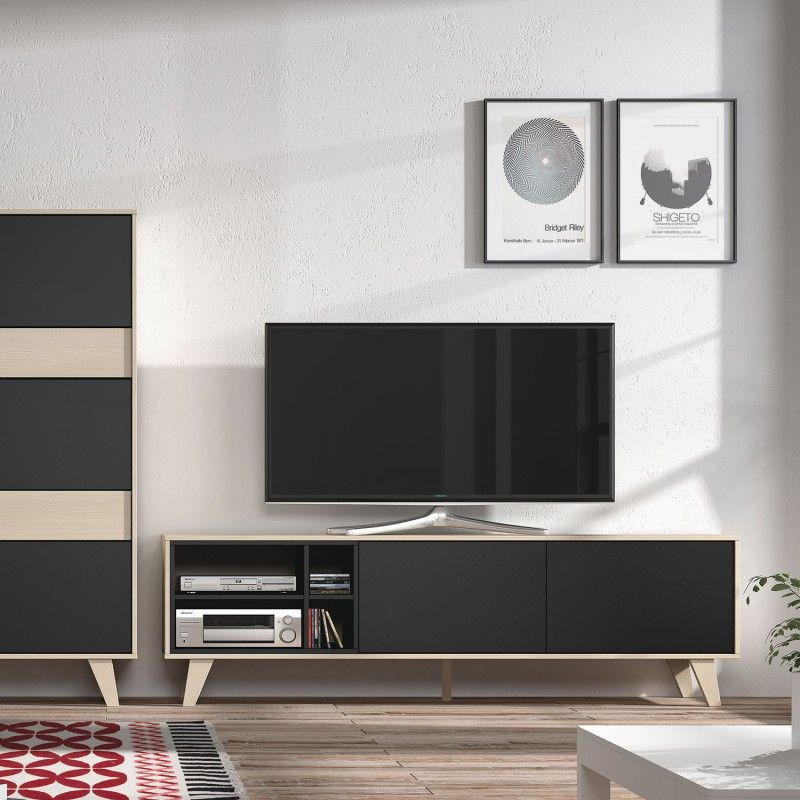 Moka Tv Cabinet By 13casa Buy Online At Monoqi Wohnung - Wohnzimmer Wandfarbe Mocca